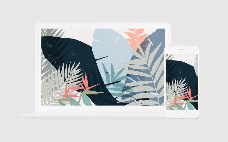Free tropical desktop wallpaper  /  Acqua Design Studio  /  acquadesignstudio.com.au