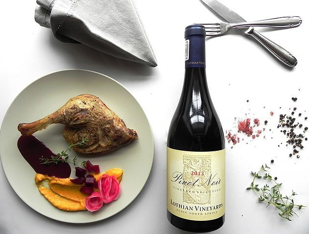 Duck and Chocolate Cherry Sauce paired with Lothian Pinot Noir | Monnig Social Media Management | #wineandfoodwednesday