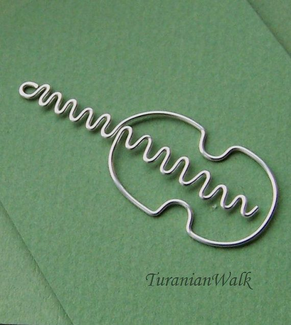 Violin++wire+bookmark+by+TuranianWalk+on+Etsy,+$6.50