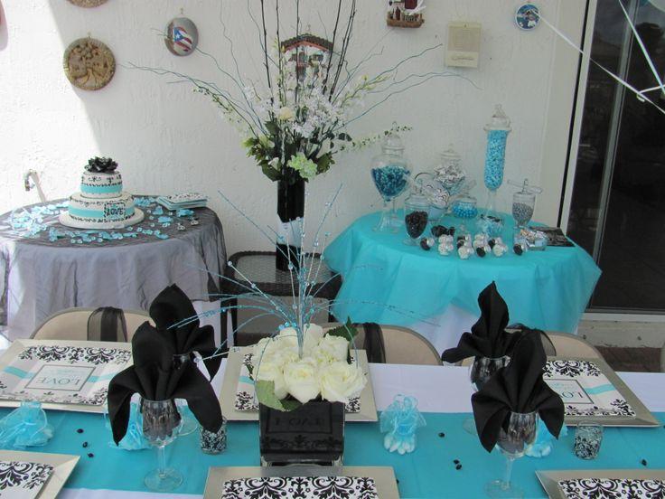 Bridal Shower Decor Tiffany Blue Theme