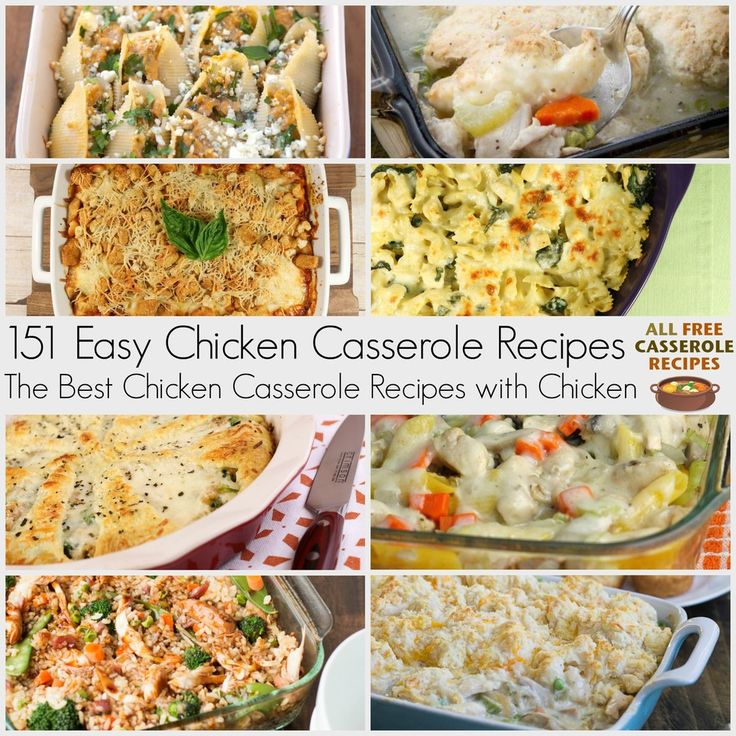 Simple Casserole Recipes: 406 Best Images About Chicken Casserole Recipes On