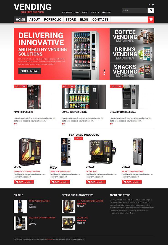 Vending Machines Responsive Theme Website