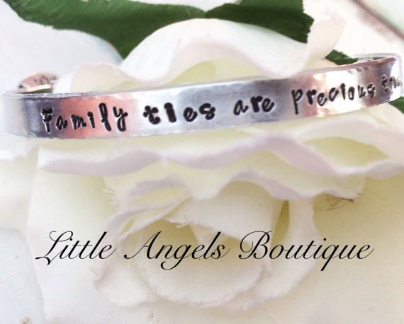 Stackable Bracelet Family ties are by littleangelsboutique on Etsy