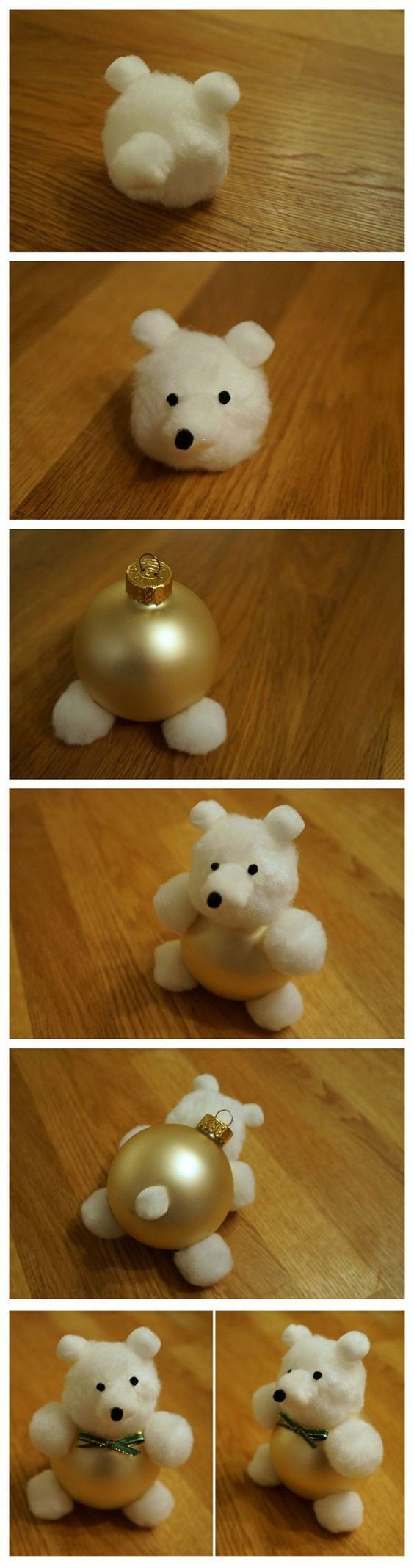 DIY Teddy Bear ornaments for Christmas!
