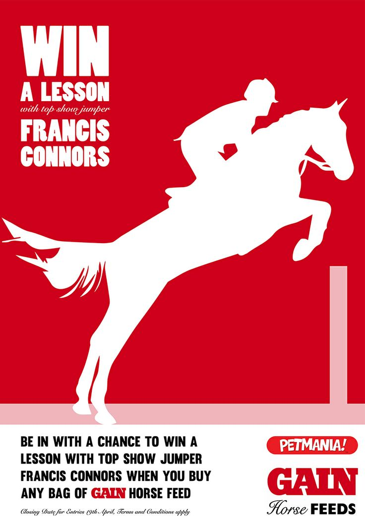 Competition poster for Gain Horse Feeds