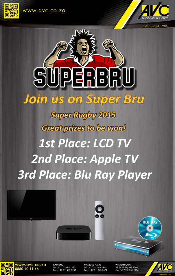 SuperBru 2015 has started. Come join in the fun and win prizes. https://www.superbru.com/club/avc/welcome.php?club=avc