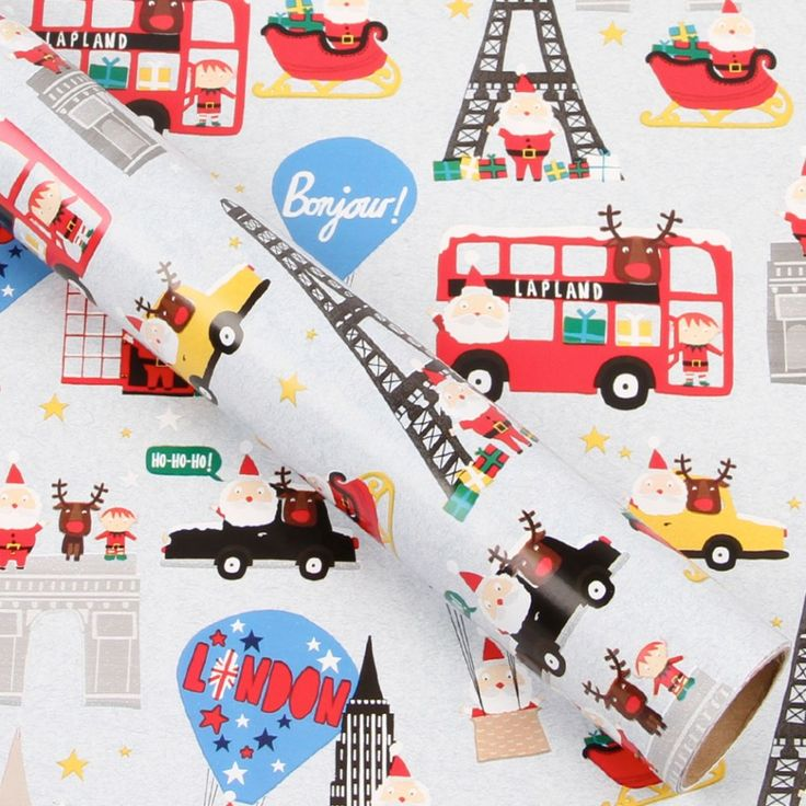 Round the world 3m roll wrapping paper