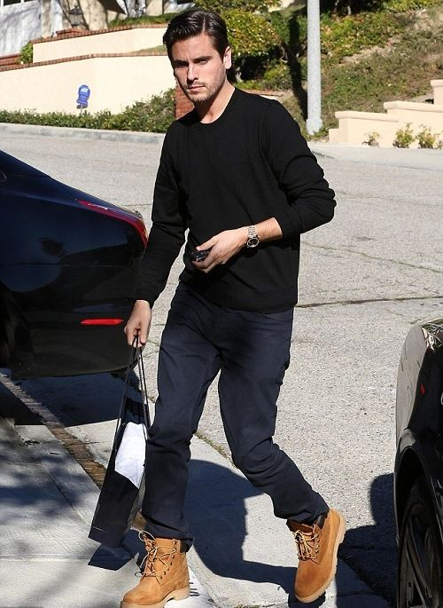 Scott Disick ,Skinny jeans with Timberland boots