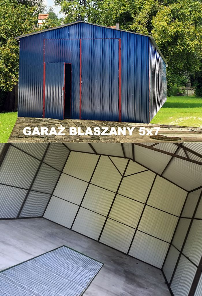 Garaz Blaszany Z Dachem Dwuspadowym Hale Wiaty 5x7 8085042730 Oficjalne Archiwum Allegro Tennis Court