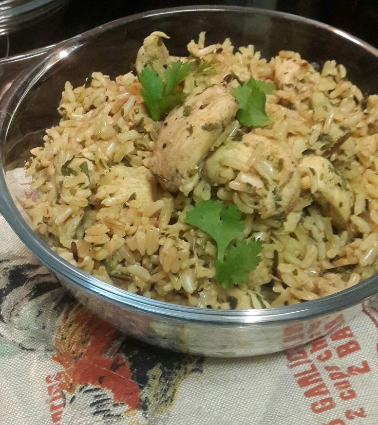 lemon chicken rice pot. #CheapMeal #BudgetMeal #Rice #Chicken