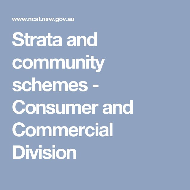 Strata and community schemes - Consumer and Commercial Division