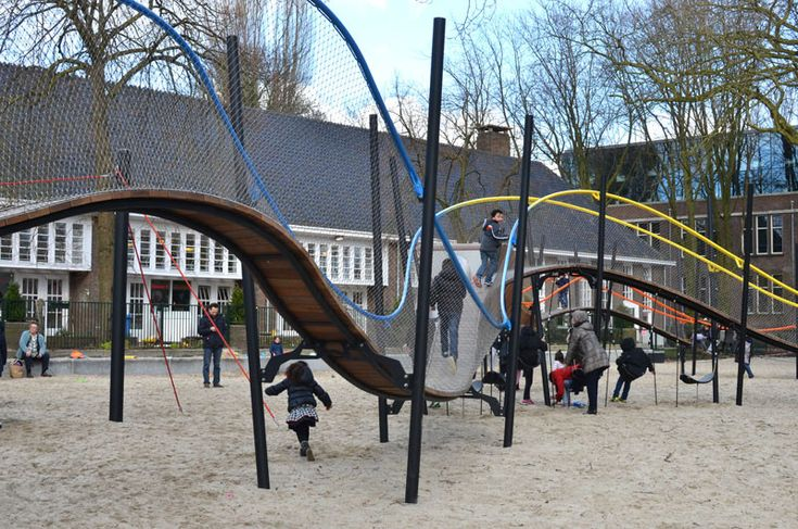 This New Playground Is Designed Like A Winding Rollercoaster For Super Happy Fun Times