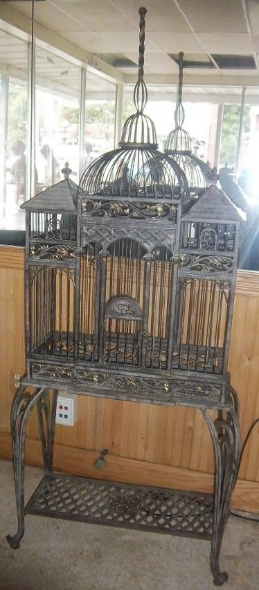 Ea. 20th C. french tole iron birdcage