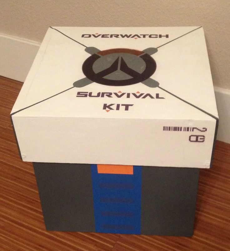 Real-life Overwatch loot box I made as a gift. http://ift.tt/2gNAw5s