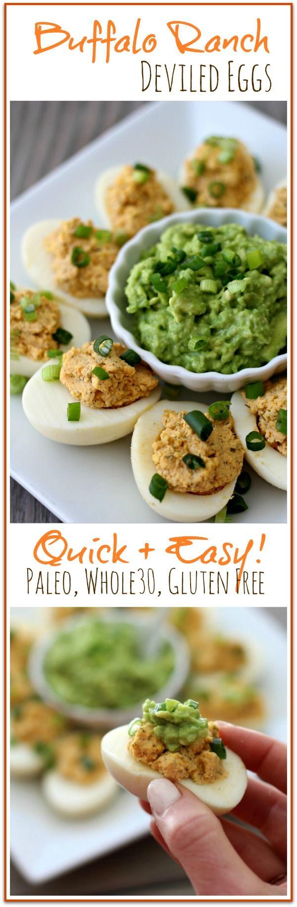 Buffalo Ranch Deviled Eggs (Paleo, Whole30, Gluten Free)