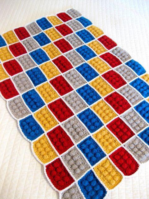 Couverture LEGO au crochet