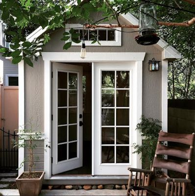 """How to Build an Affordable Shed-Office in 18 Easy... Months."" Turn a shed into an office. #shedquarters #sheshed #shoffice"