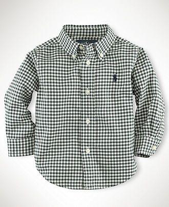 Ralph Lauren Baby Boys Gingham Blake Shirt