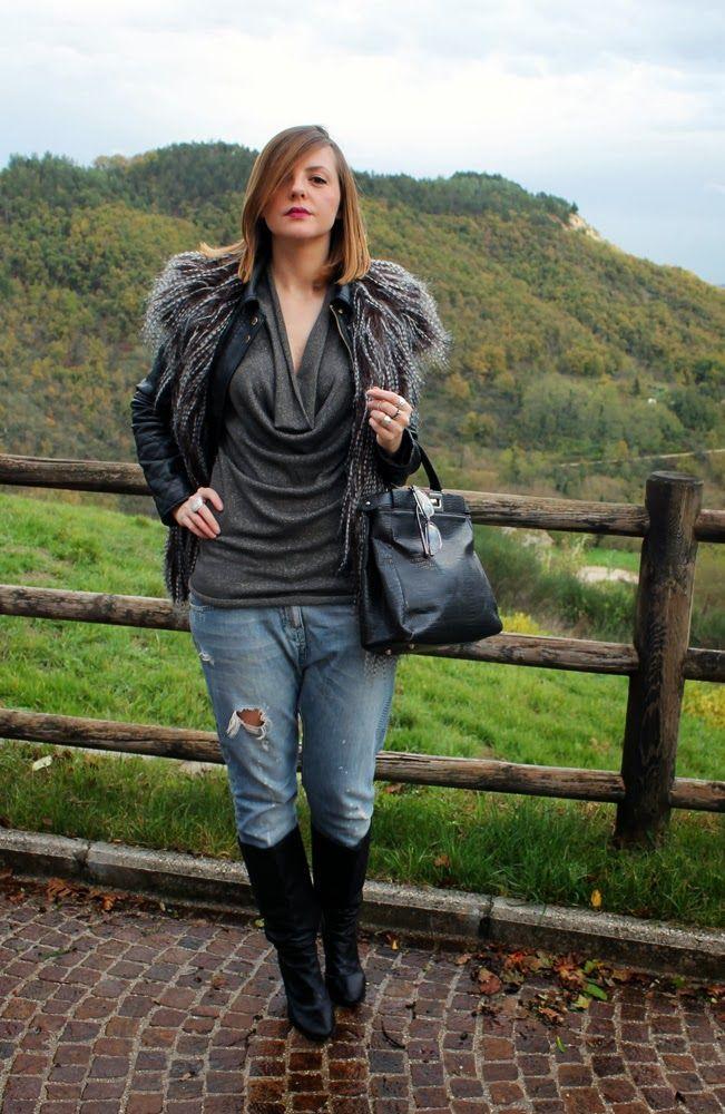 amemipiacecosi: Outfit: Gilet di pelliccia ecologica e top in lurex Mia Wish