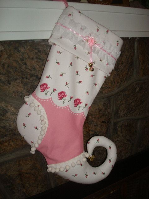 cute shabby chic christmas stocking