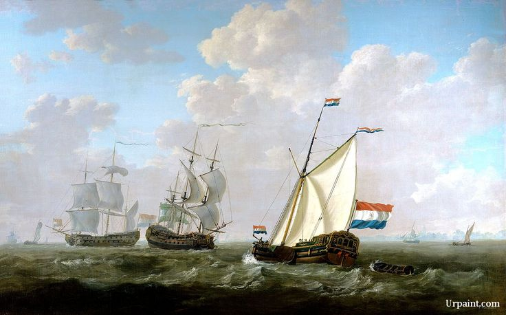 The yacht of the VOC Chamber of Rotterdam 1790