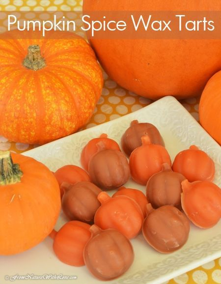 Pumpkin Spice Wax Tarts | www.NaturalBeautyWorkshop.com                                                                                                                                                                                 More