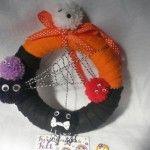 Fun Halloween Bobble Wreath £8.00 by Fantabulous Felt