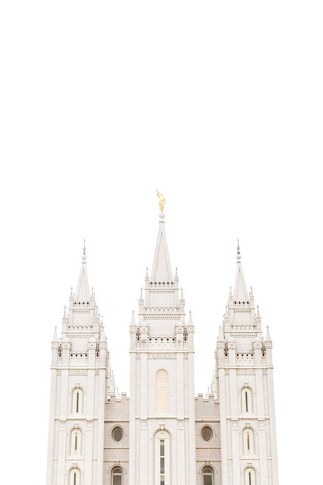 Salt Lake City Utah Temple White