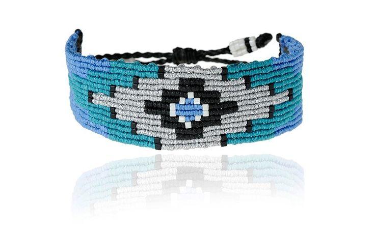 Zoe Kompitsi | Teal & Blue Geometric Bracelet