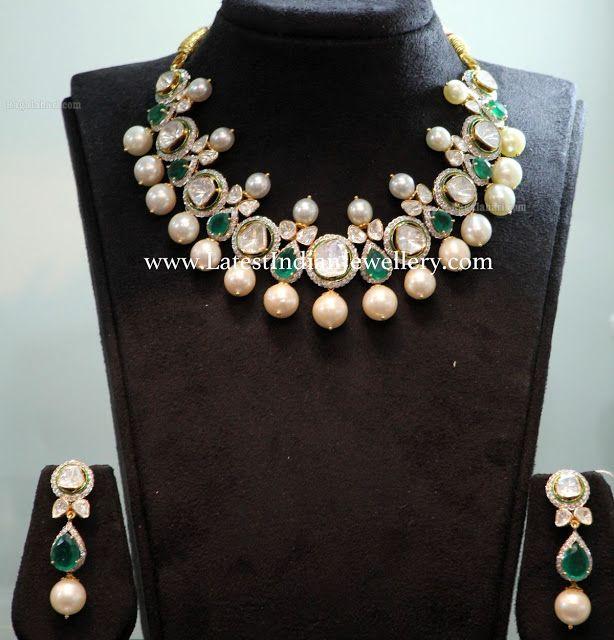 Emerald Combination Jadau Necklace