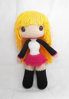 Free amigurumi girl doll base