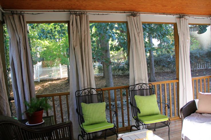 thrift hero. diy patio curtains drop cloth.