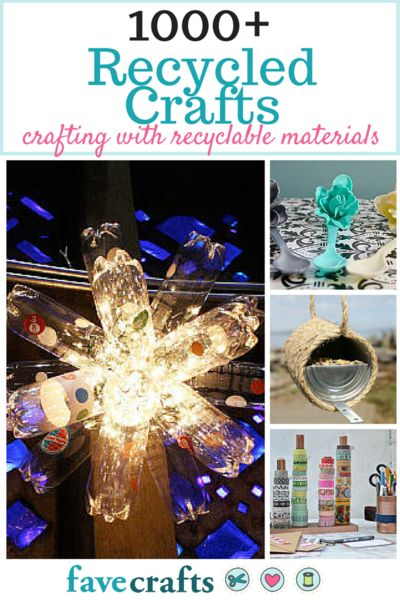 1000+ Recycled Crafts: Crafting with Recyclable Items - Reuse just about everything in your house in creative and crafty ways with this list of DIY crafts made from recycled materials.