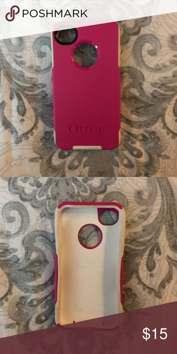 Otterbox iPhone 5 / 5s Case Pink White Lightly used OtterBox case. Originally $49.95 but now selling on amazon for around $25! OtterBox Other