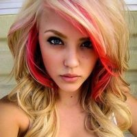 Pink Peek-a-Boo Highlights- placement not color!  Things like this make me wish I could go blonde :P