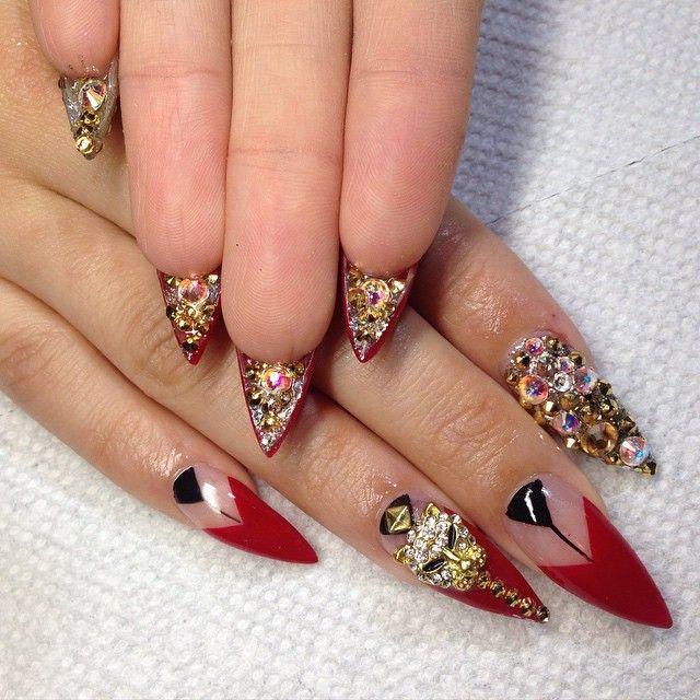 Long Stiletto Nail Art: 80 Best ‼ Nailed It ‼ Images On Pinterest