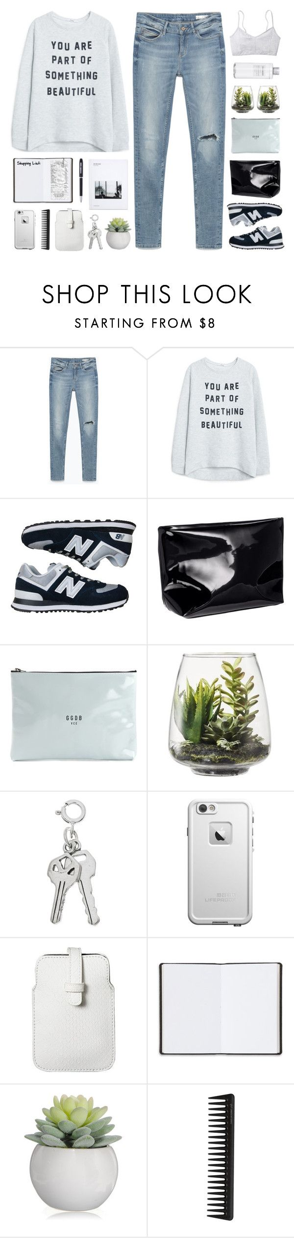 """""""//What to Wear: Black Friday Shopping//"""" by lion-smile ❤ liked on Polyvore featuring Zara, MANGO, New Balance, H&M, Golden Goose, Threshold, Muji, LifeProof, Mossimo and Harrods"""