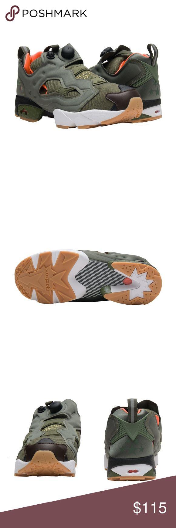 New Reebok InstaPump Fury OG Green sneakers New REEBOK  Instapump Fury OG Green sneakers.   Men's low top sneaker   Slip on construction   Heel tab for easy on/off   REEBOK logo branding   Pump cushioning  Limited sizes. Reebok Shoes Sneakers
