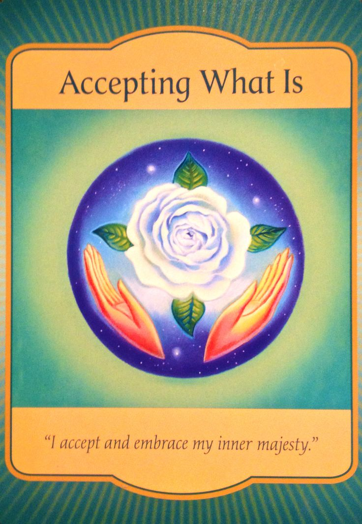 Accepting What Is, from the Gateway Oracle Card deck, by Denise Linn