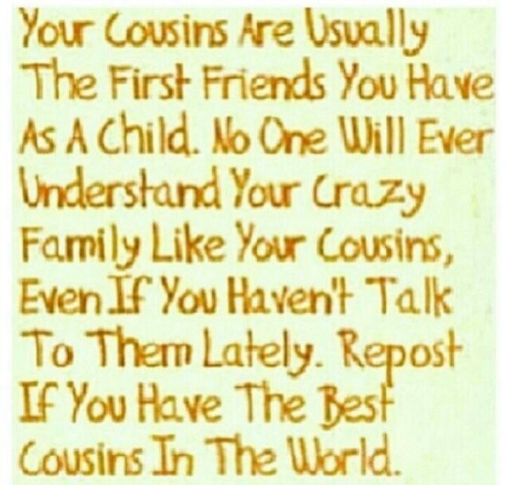 Best Cousins Quote: Quotes About Cousins Like Sisters. QuotesGram