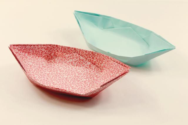 Learn how to make an origami boat that is perfect to use as a dish!: Traditional Origami Boat Dish Tutorial