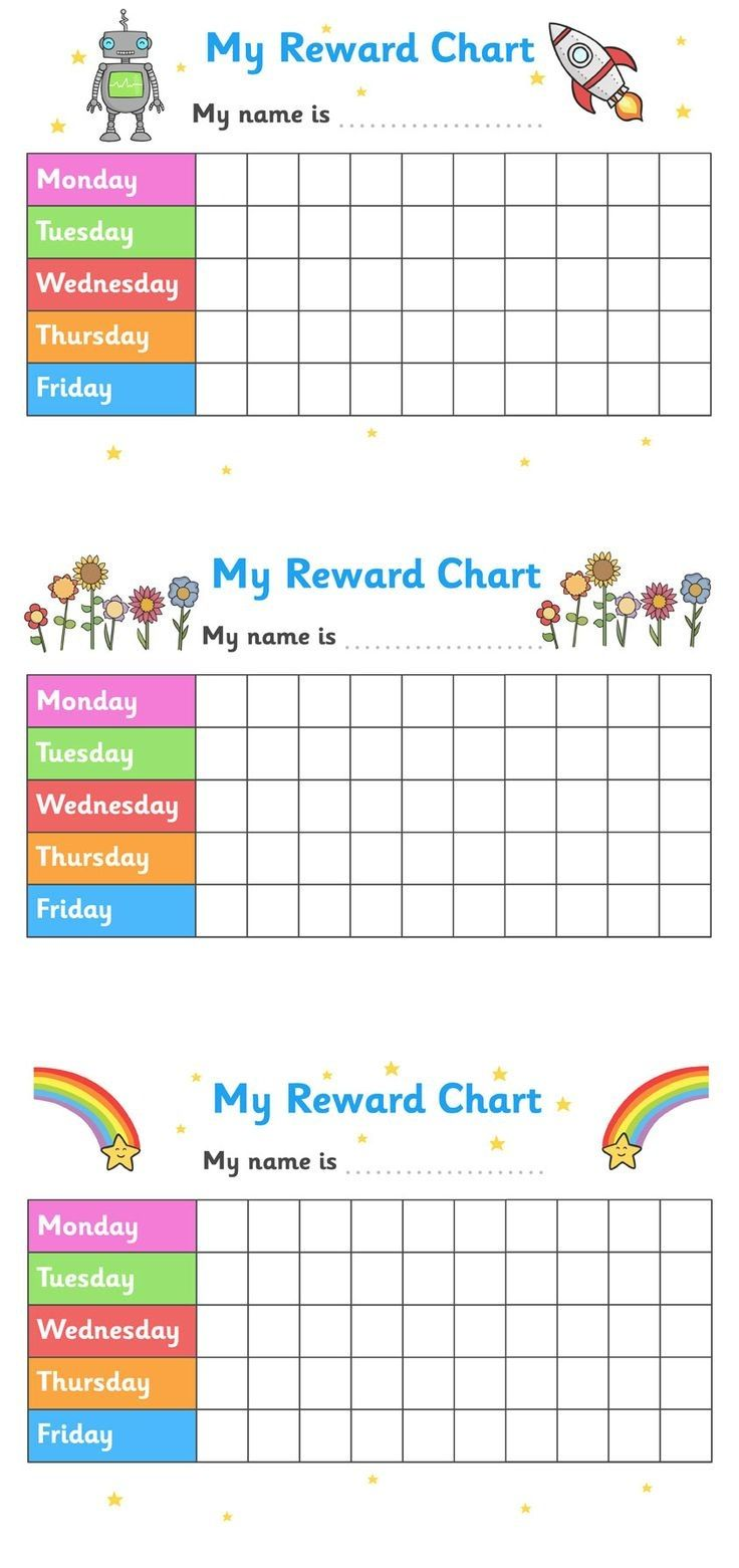 It is a graphic of Revered Printable Behavior Charts for Toddlers