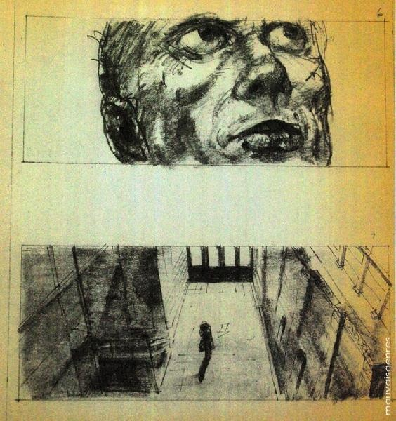 Blade Runner storyboard by Sherman Labby