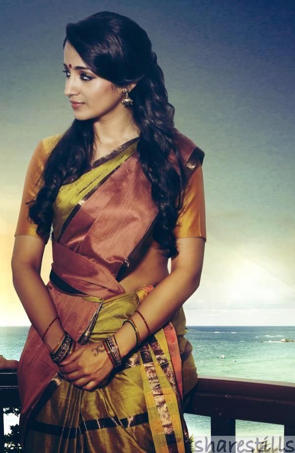 Trisha Krishnan Stills In Yennai Arindhal Movie Photo