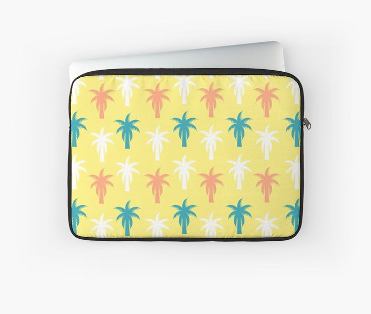 A colorful #laptop sleeve for #sunny #summer days. #tropical #technology #palmtrees #exotic