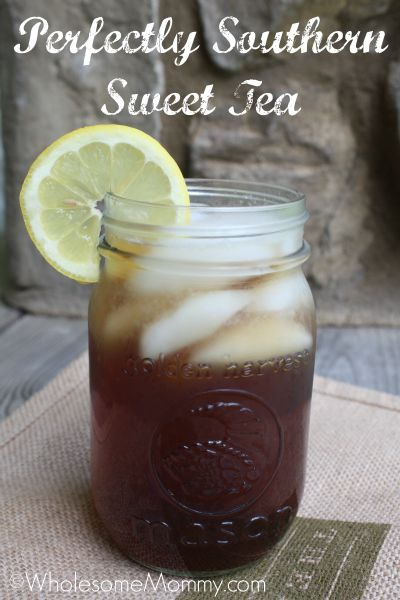This is the best recipe for southern sweet tea. Georgia girls know their sweet tea. :) from WholesomeMommy.com