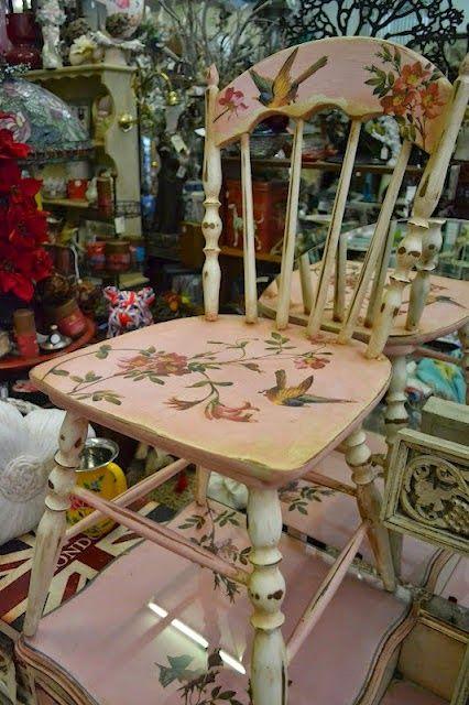 60 εξαιρετικές ιδέες για Decoupage σε καρέκλες!   Φτιάξτο μόνος σου - Κατασκευές DIY - Do it yourself