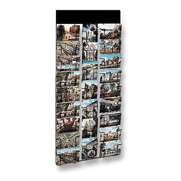 63 €  Dim. ext. H 102 x L 45 x Ep. 5 cm  http://www.edimeta.fr/plv-mobilier/presentoir-presse/porte-carte-postale-routiere/panneau-mural-pour-cartes-postales.html