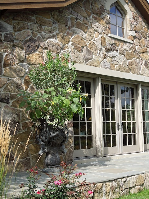 Architectural inspiration, stone home, french doors, cottage