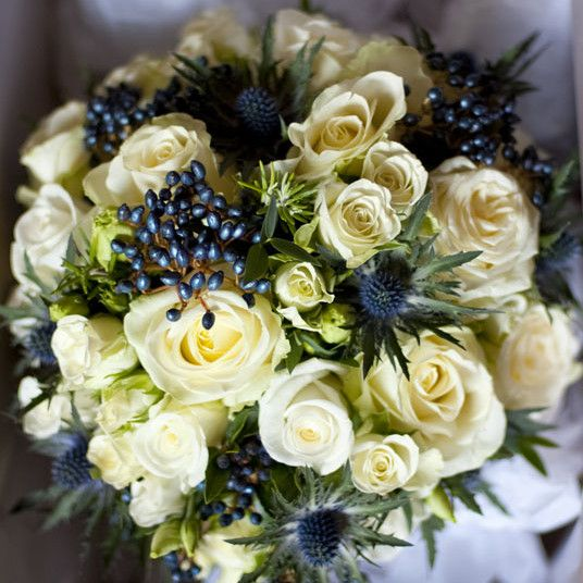 The Queensferry Flower Company. Scottish bouquet destined for Inchcolm Abbey.